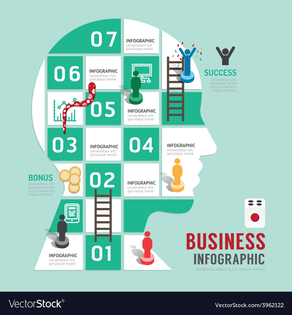 Business board game concept infographic vector | Price: 1 Credit (USD $1)