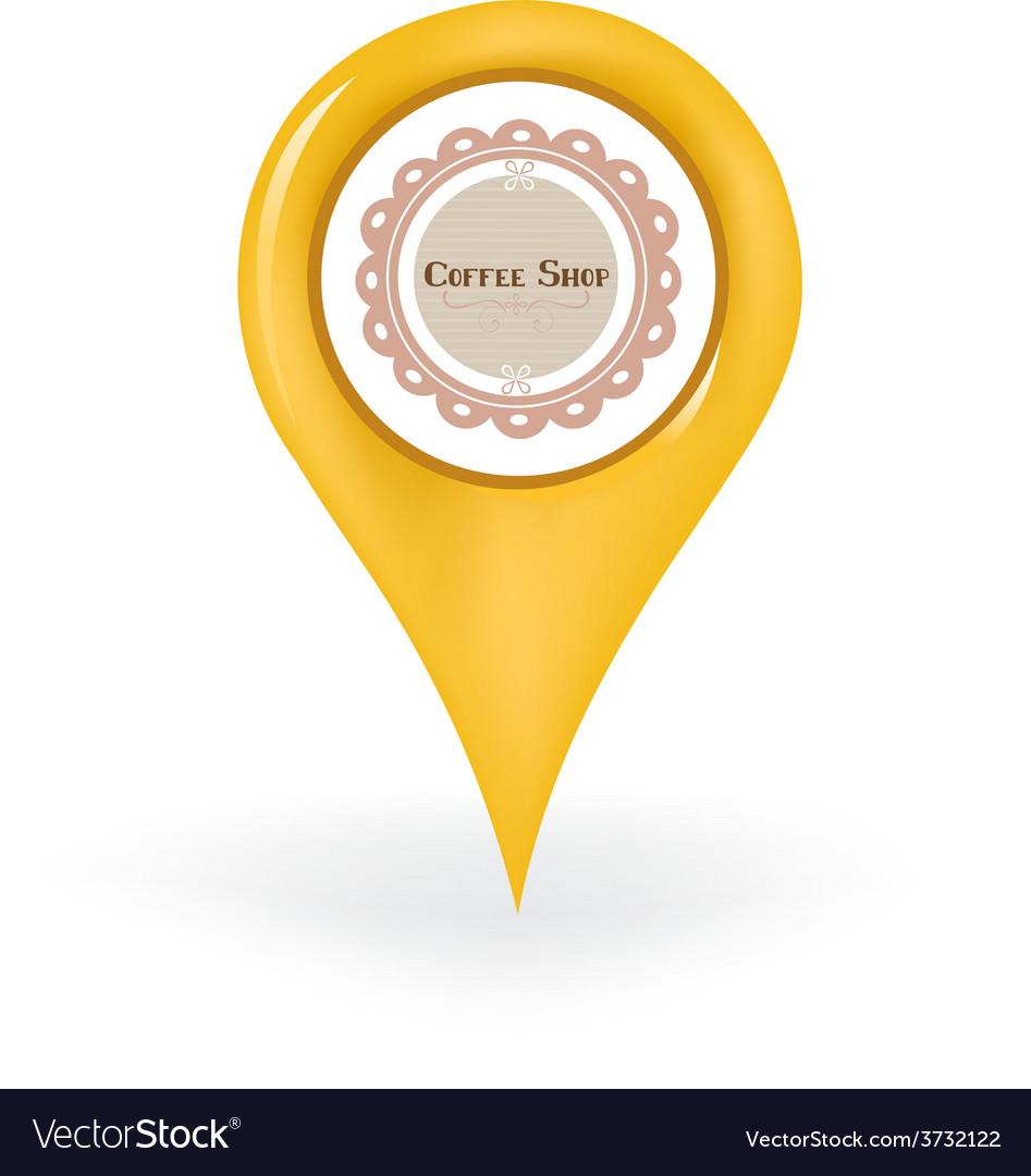 Coffee shop location vector   Price: 1 Credit (USD $1)