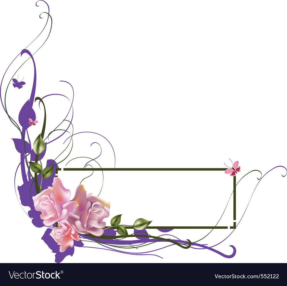 Elegant floral frame vector | Price: 1 Credit (USD $1)