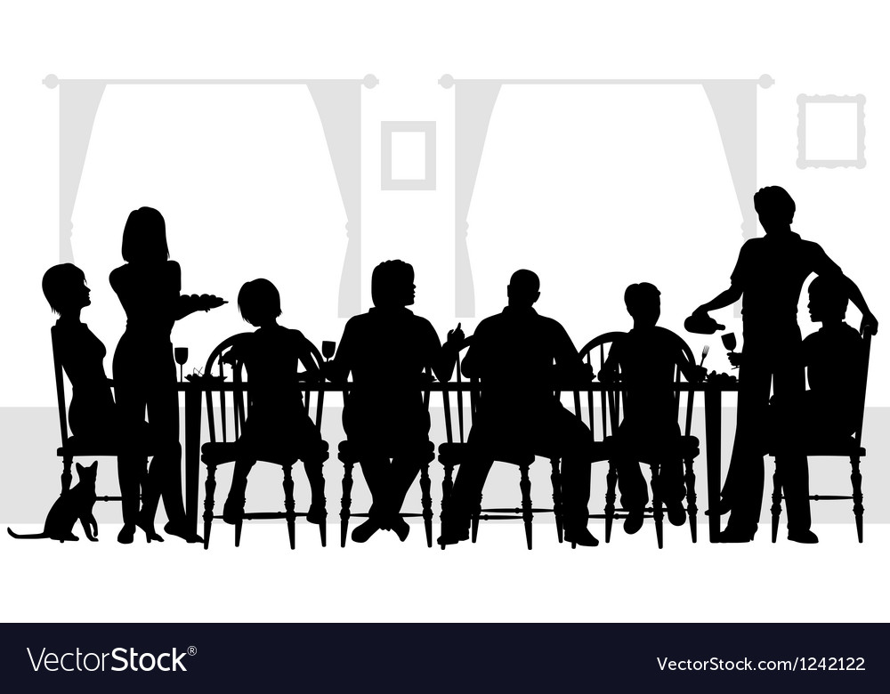 Family meal vector | Price: 1 Credit (USD $1)