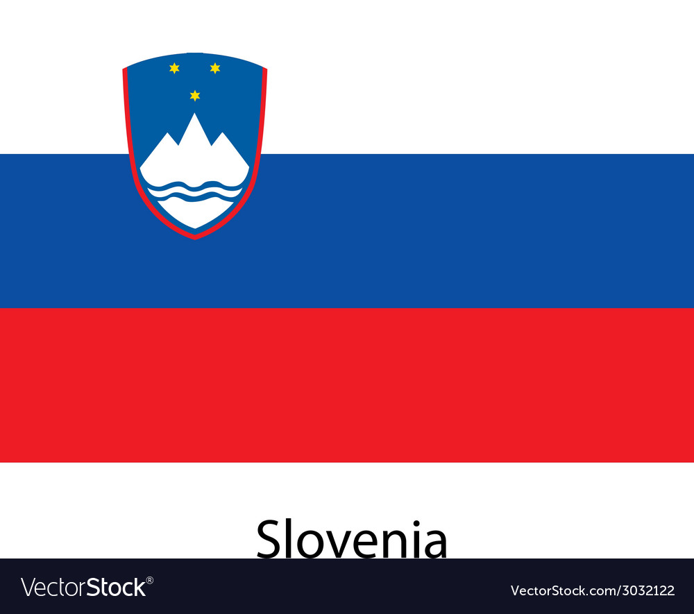 Flag of the country slovenia vector | Price: 1 Credit (USD $1)