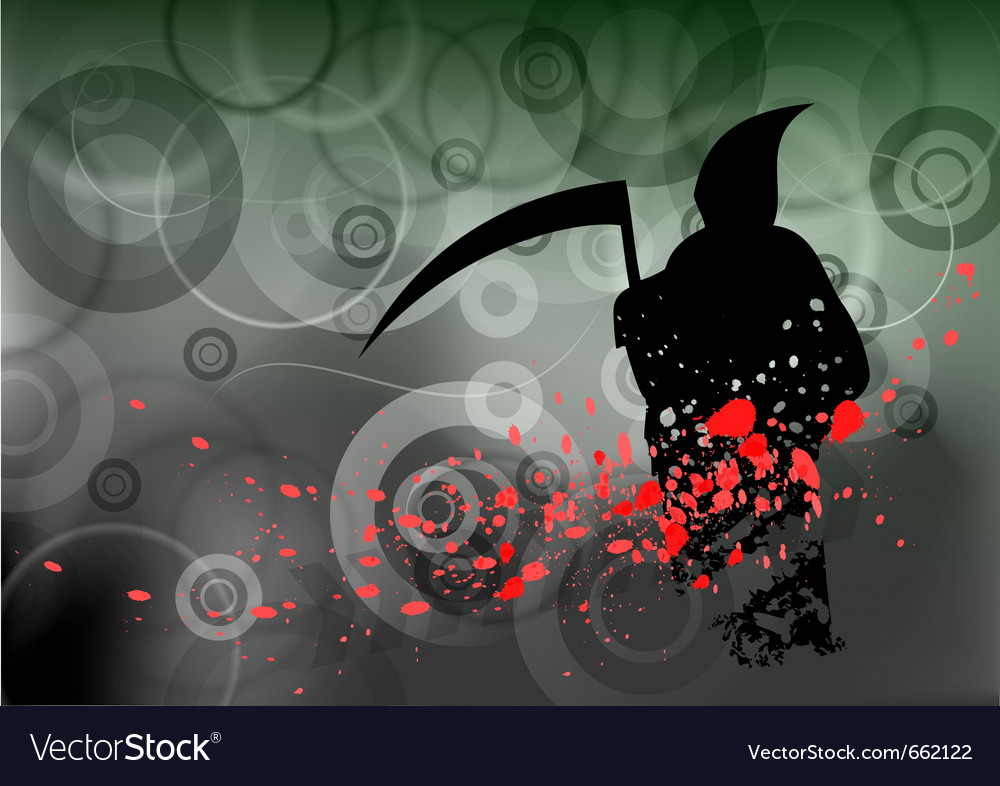 Halloween reaper on the background vector | Price: 1 Credit (USD $1)