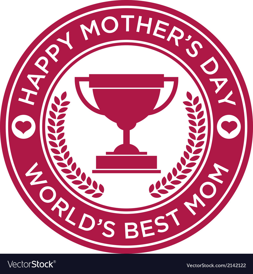 Happy mothers day icon vector | Price: 1 Credit (USD $1)