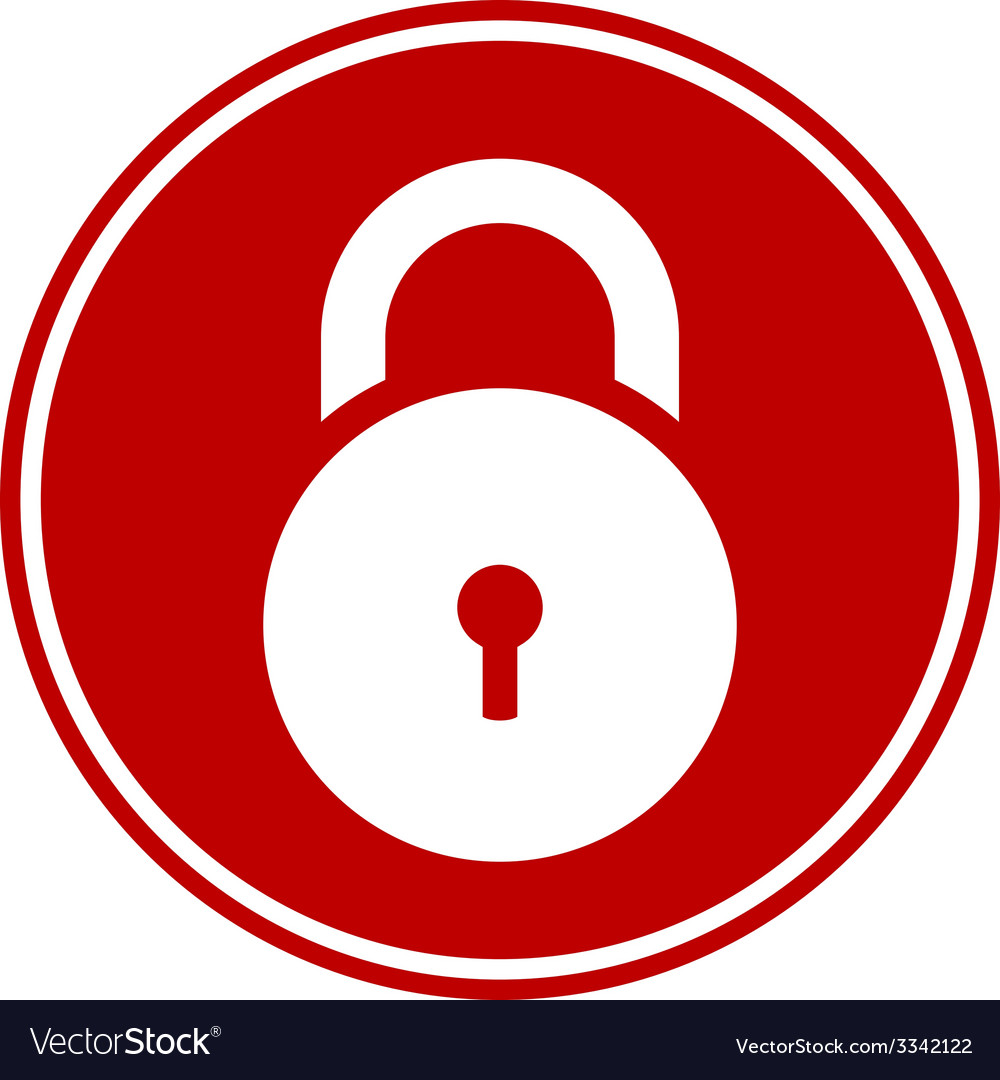 Lock symbol button vector   Price: 1 Credit (USD $1)