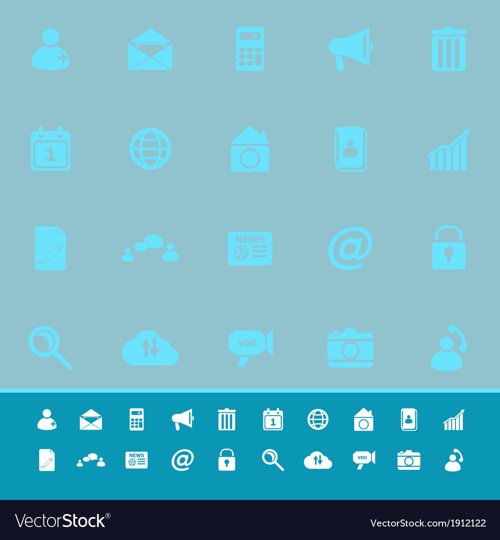 Mobile phone color icons on blue background vector | Price: 1 Credit (USD $1)