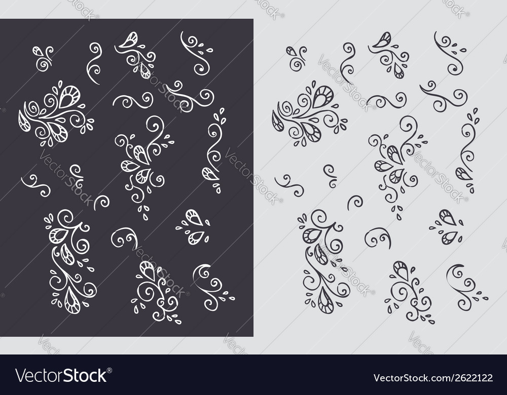 Set of plumes vector | Price: 1 Credit (USD $1)