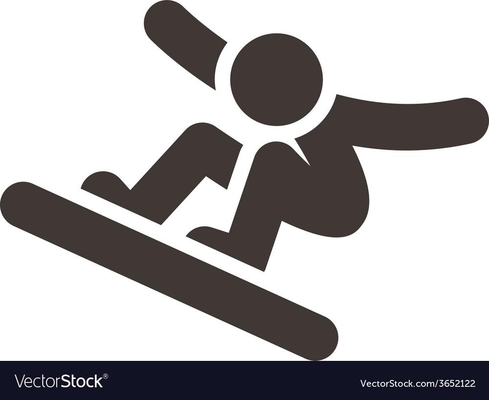 Snowboard icon vector | Price: 1 Credit (USD $1)