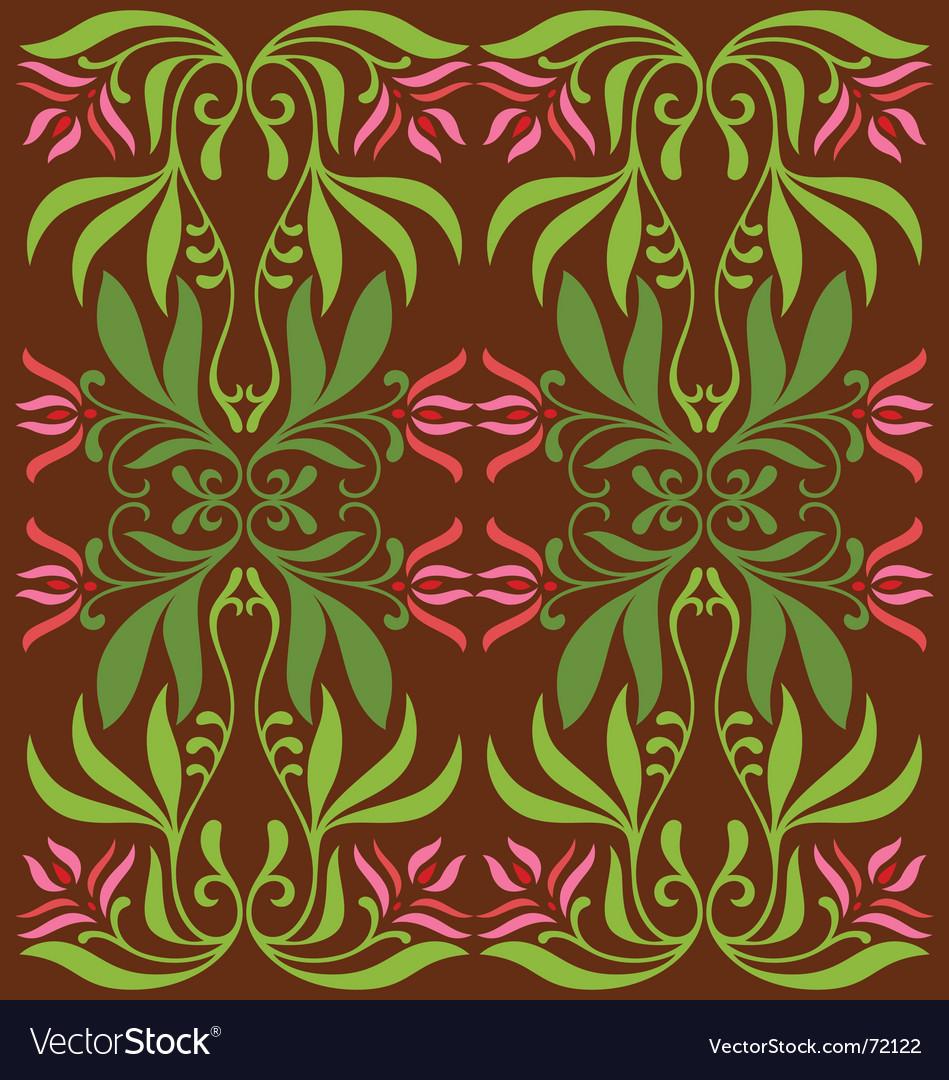 Vintage flower decoration vector | Price: 1 Credit (USD $1)