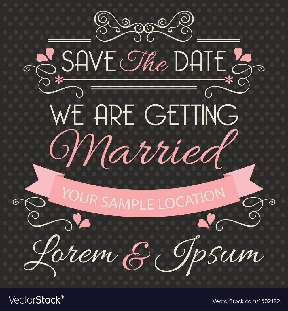 Wedding invitation card template vector | Price: 1 Credit (USD $1)