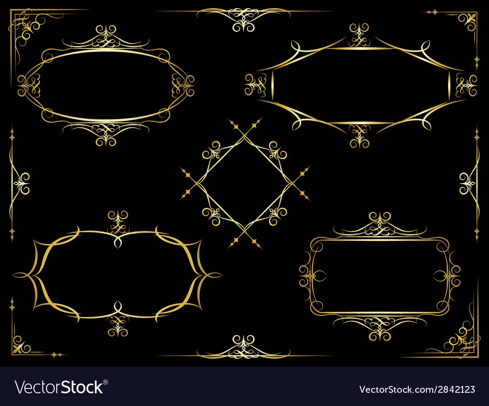 Decorative ornate frames vector | Price: 1 Credit (USD $1)