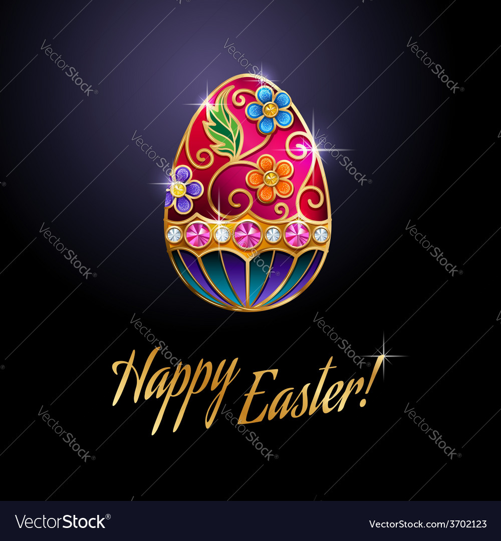Easter egg red vector | Price: 1 Credit (USD $1)