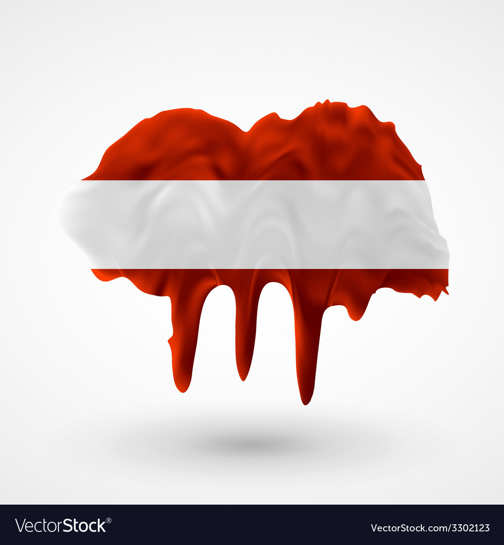 Flag of austria painted colors vector | Price: 1 Credit (USD $1)
