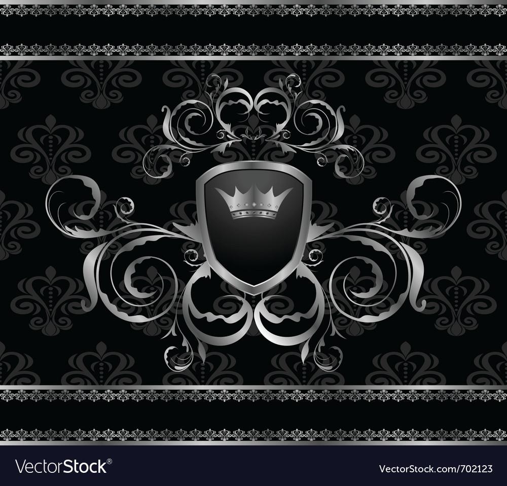 Luxury vintage aluminum frame template - vector | Price: 1 Credit (USD $1)