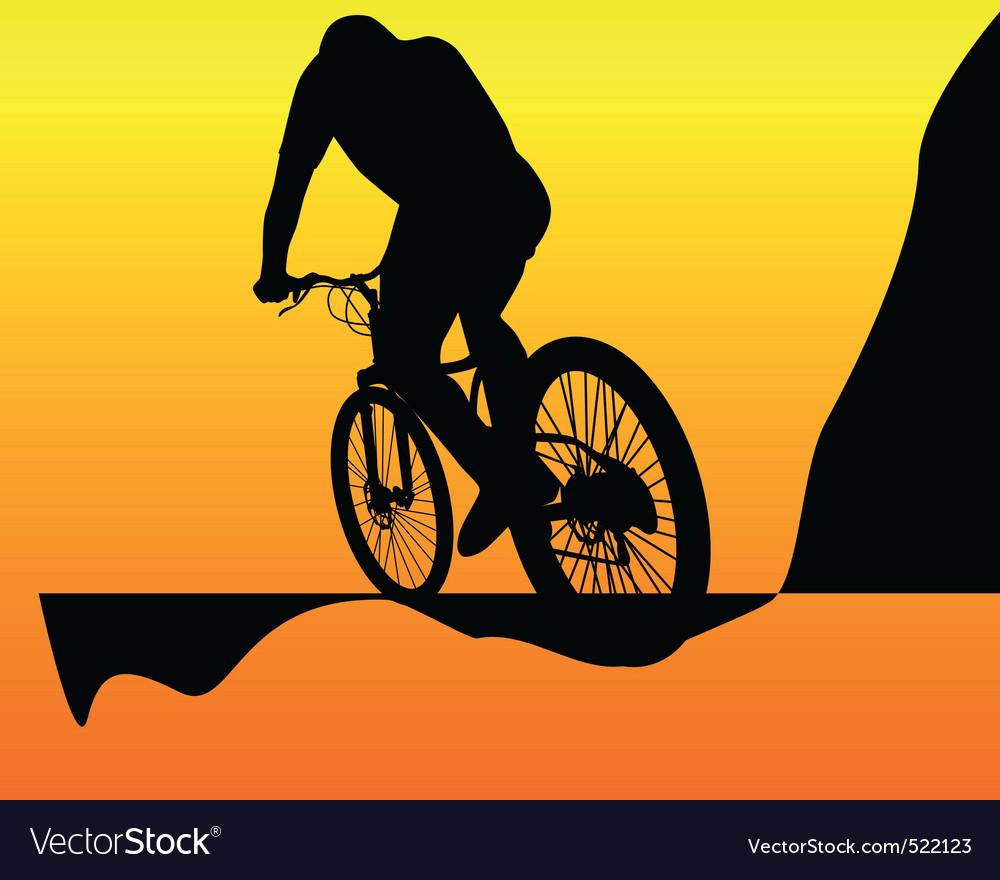 Mountain biker vector | Price: 1 Credit (USD $1)