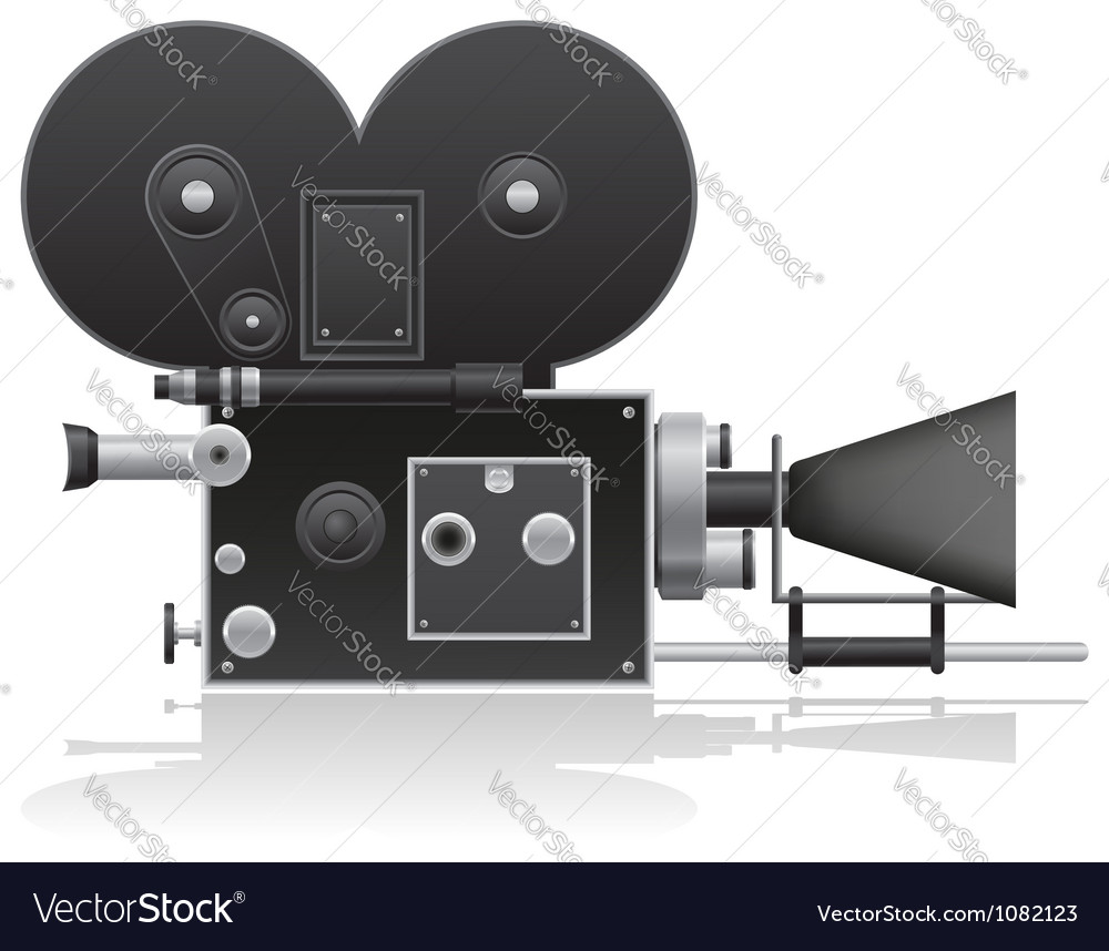 Old movie camera 01 vector | Price: 1 Credit (USD $1)