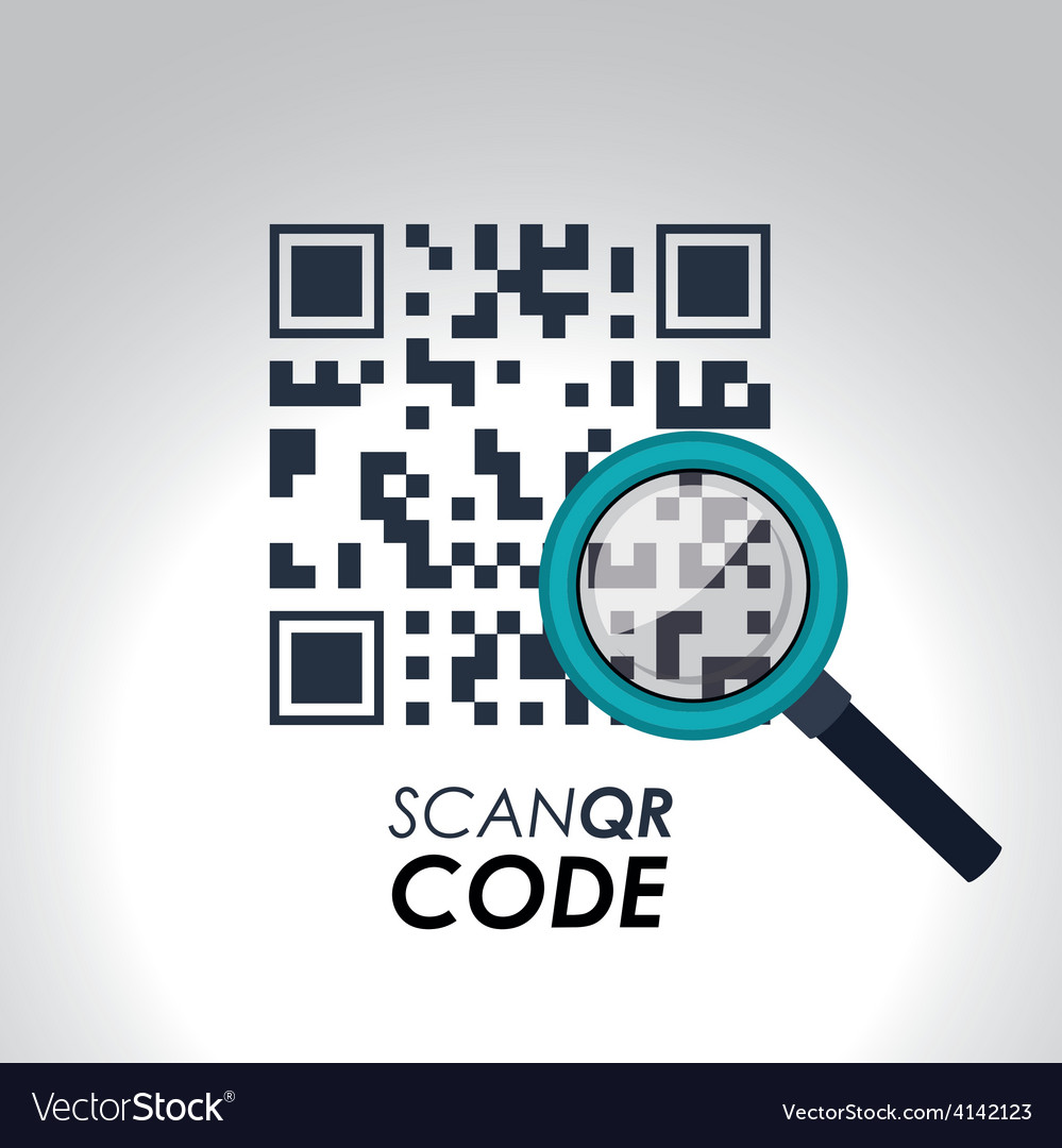 Scan qr code design vector