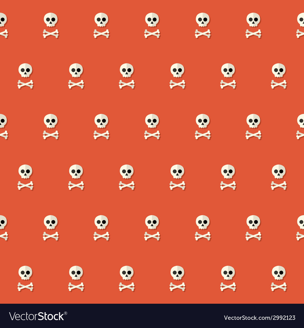 Seamless halloween skull pattern with bones over vector | Price: 1 Credit (USD $1)