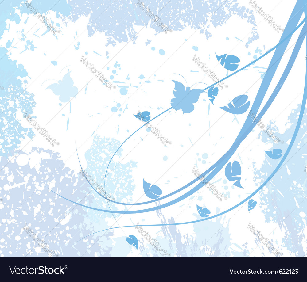 Seasonal abstract floral vector | Price: 1 Credit (USD $1)