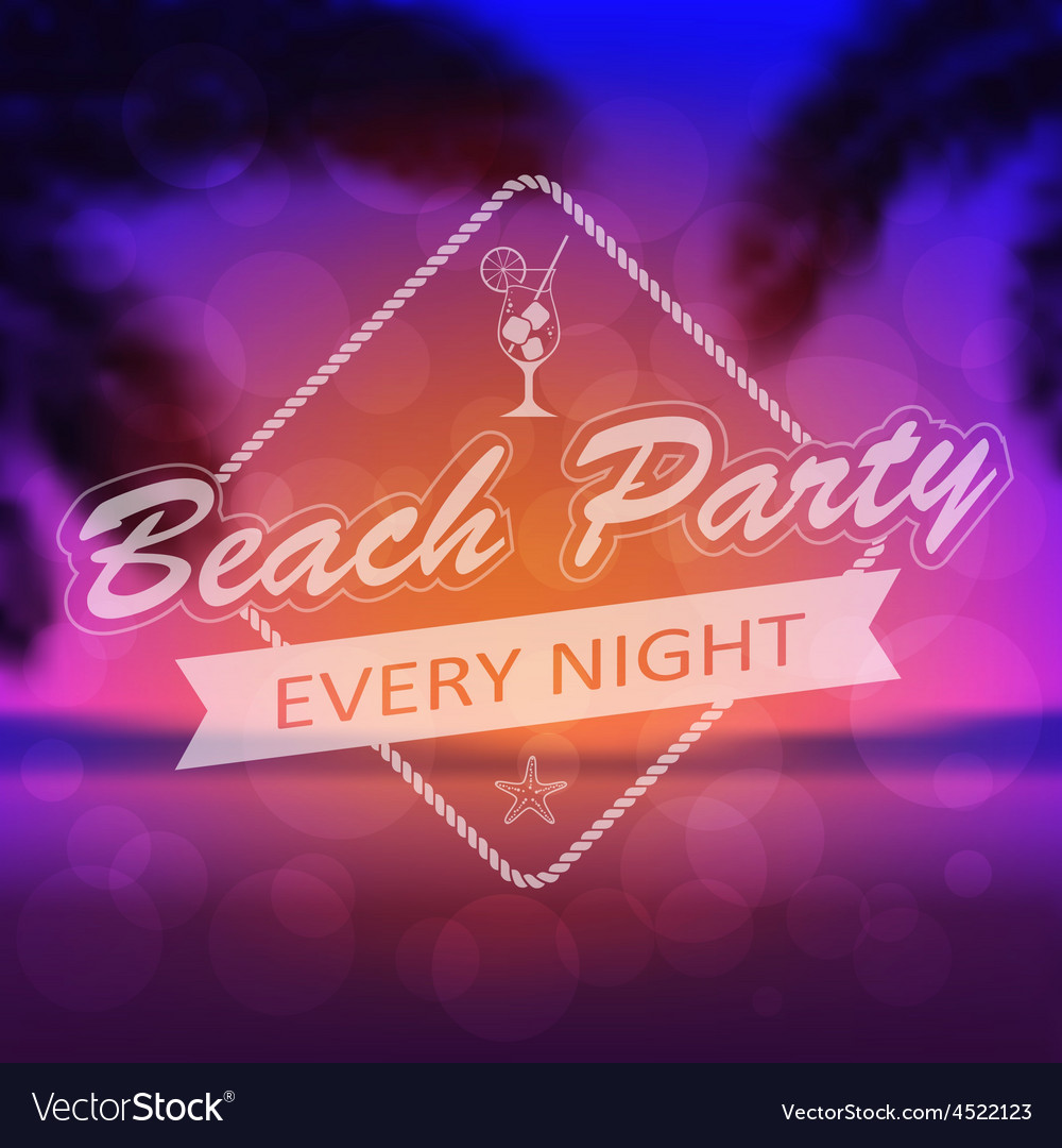 Summer beach party background vector   Price: 1 Credit (USD $1)