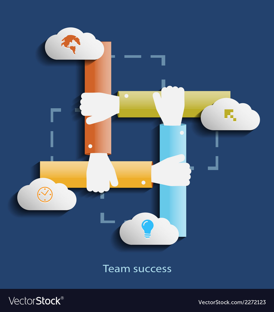 Team success flat design concept template with vector | Price: 1 Credit (USD $1)