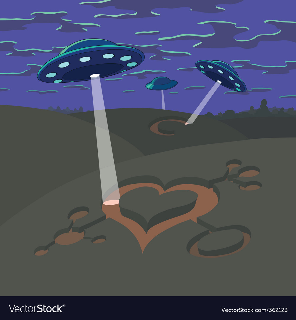 Valentines day ufo vector | Price: 3 Credit (USD $3)