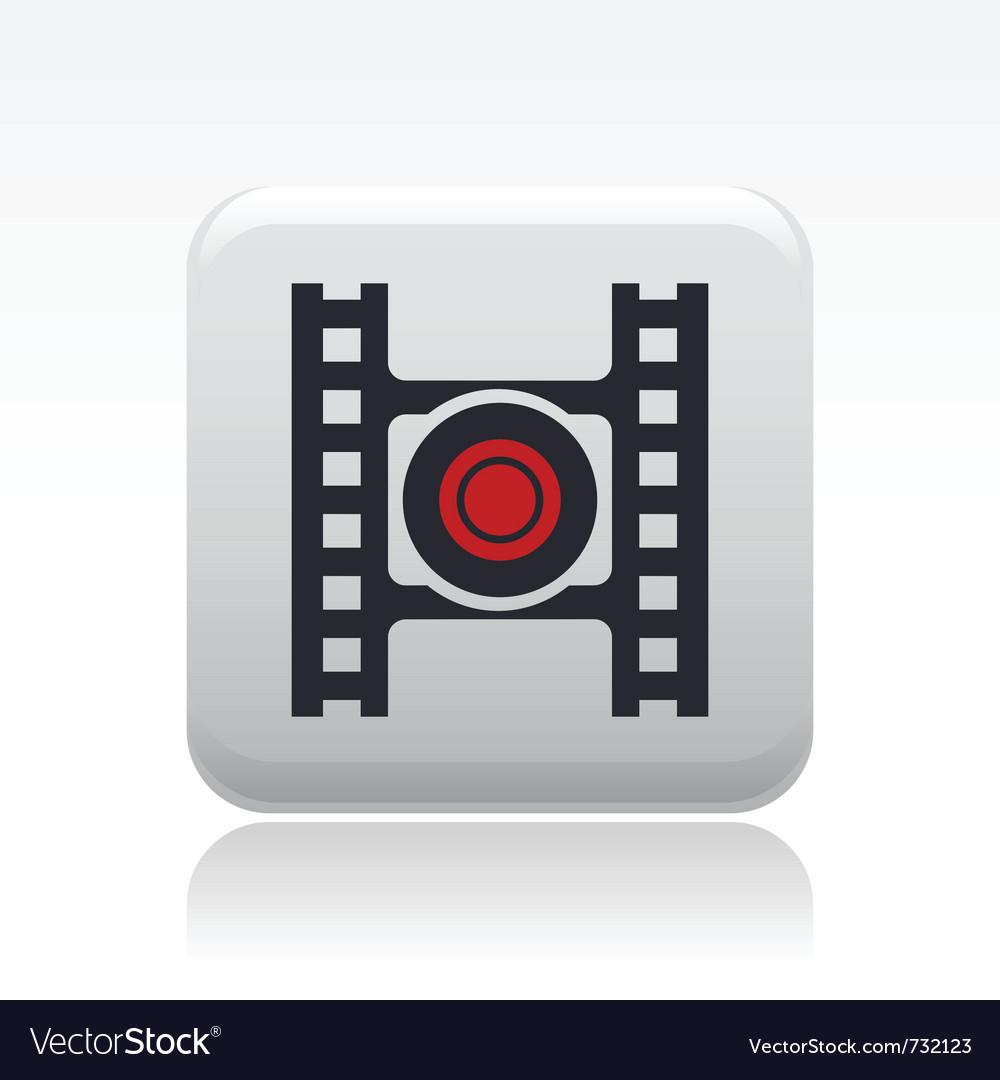 Video recording icon vector   Price: 1 Credit (USD $1)