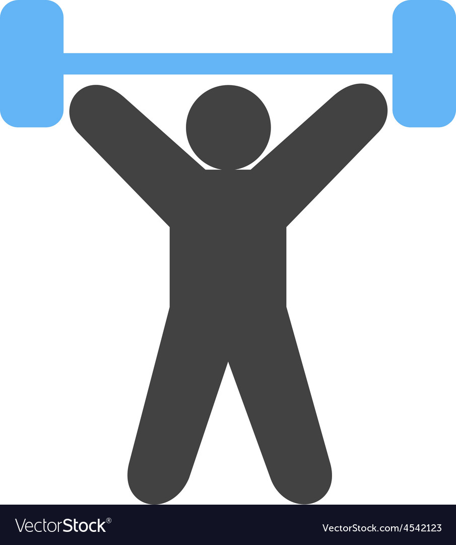 Weight lifting person vector   Price: 1 Credit (USD $1)