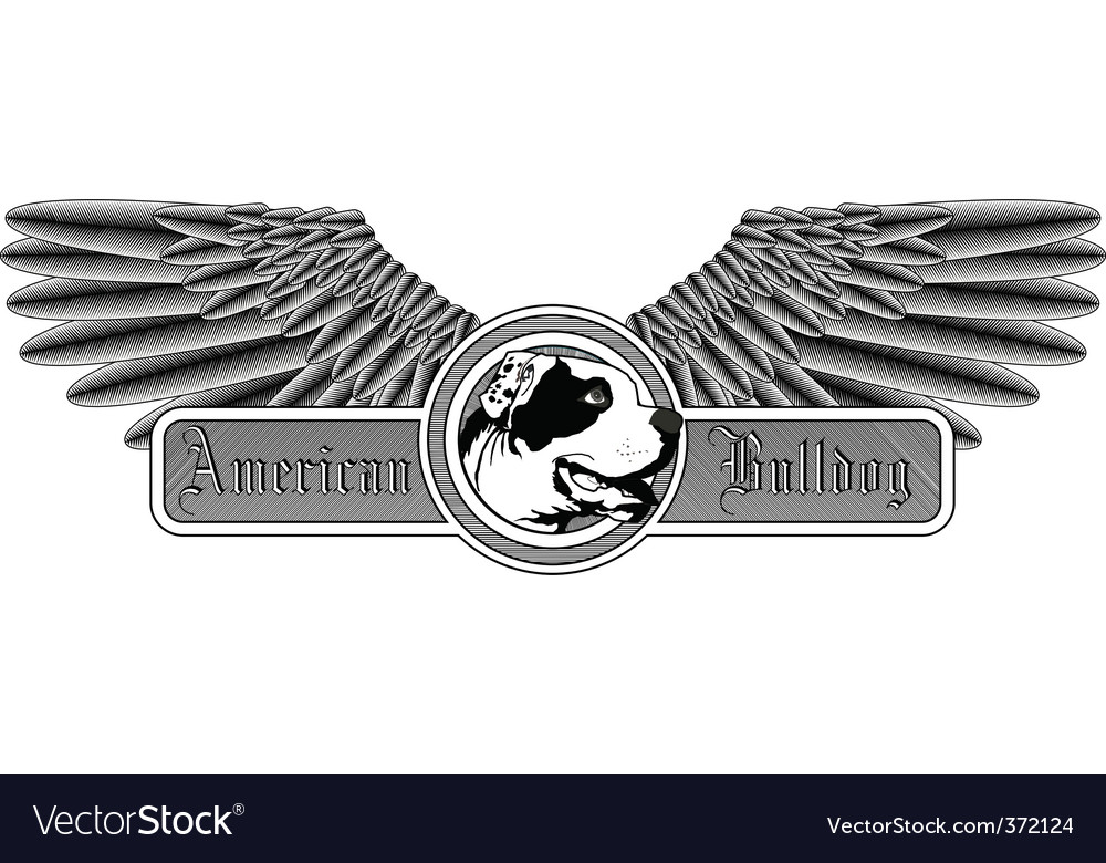 American bulldog logo vector | Price: 1 Credit (USD $1)