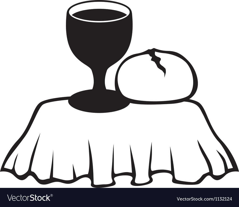 Chalice and bread vector | Price: 1 Credit (USD $1)