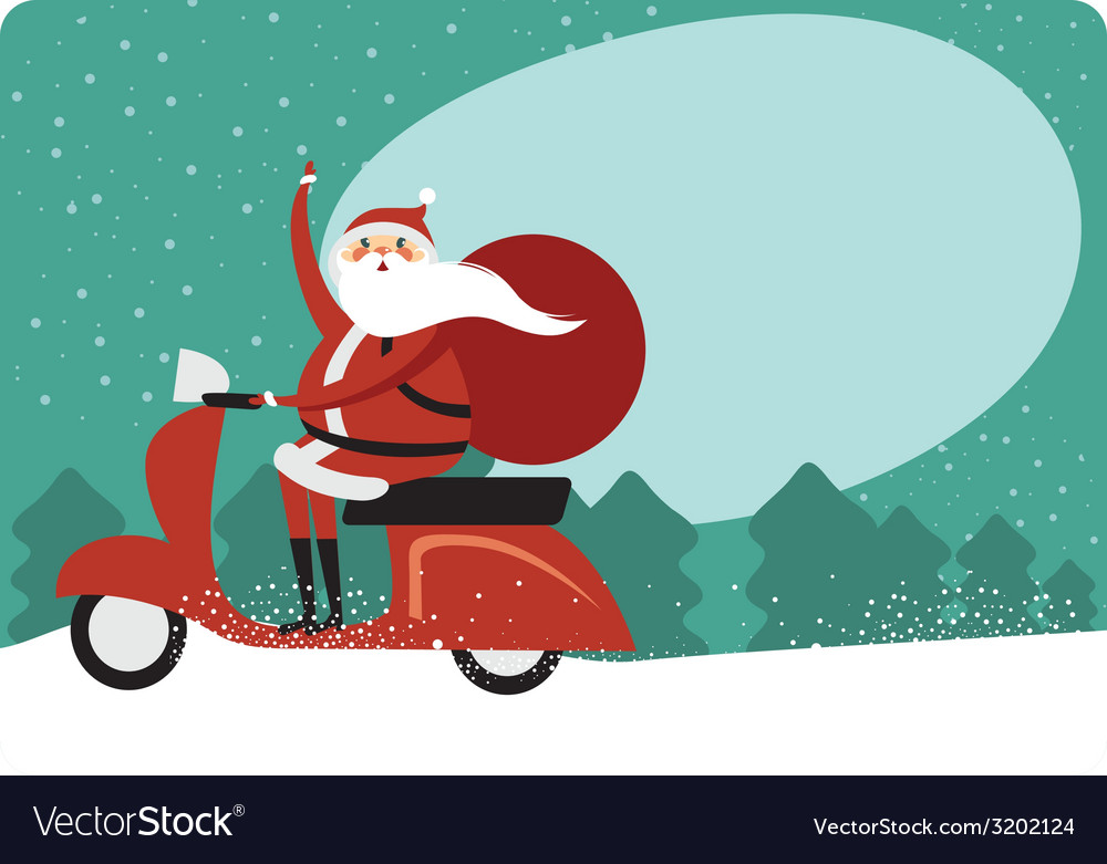 Christmas card with copy space vector | Price: 1 Credit (USD $1)