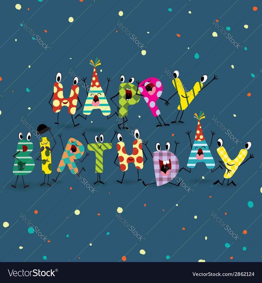 Colorful birthday background vector   Price: 1 Credit (USD $1)
