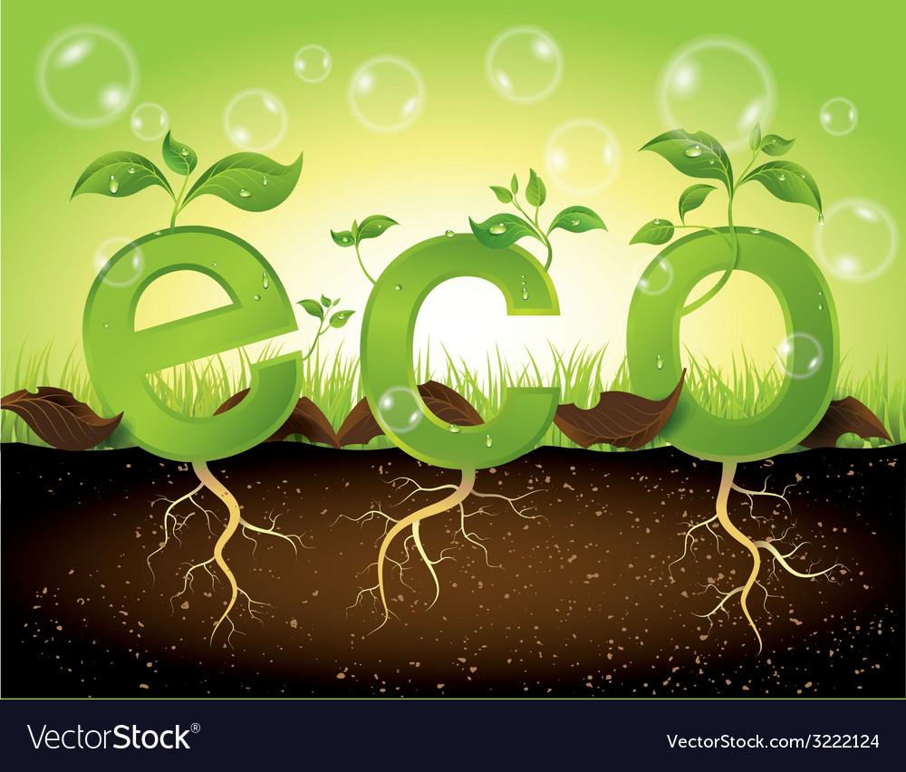Eco concept vector   Price: 1 Credit (USD $1)