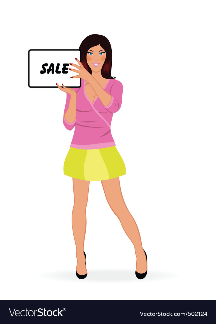 Fashion shopping girl vector | Price: 1 Credit (USD $1)