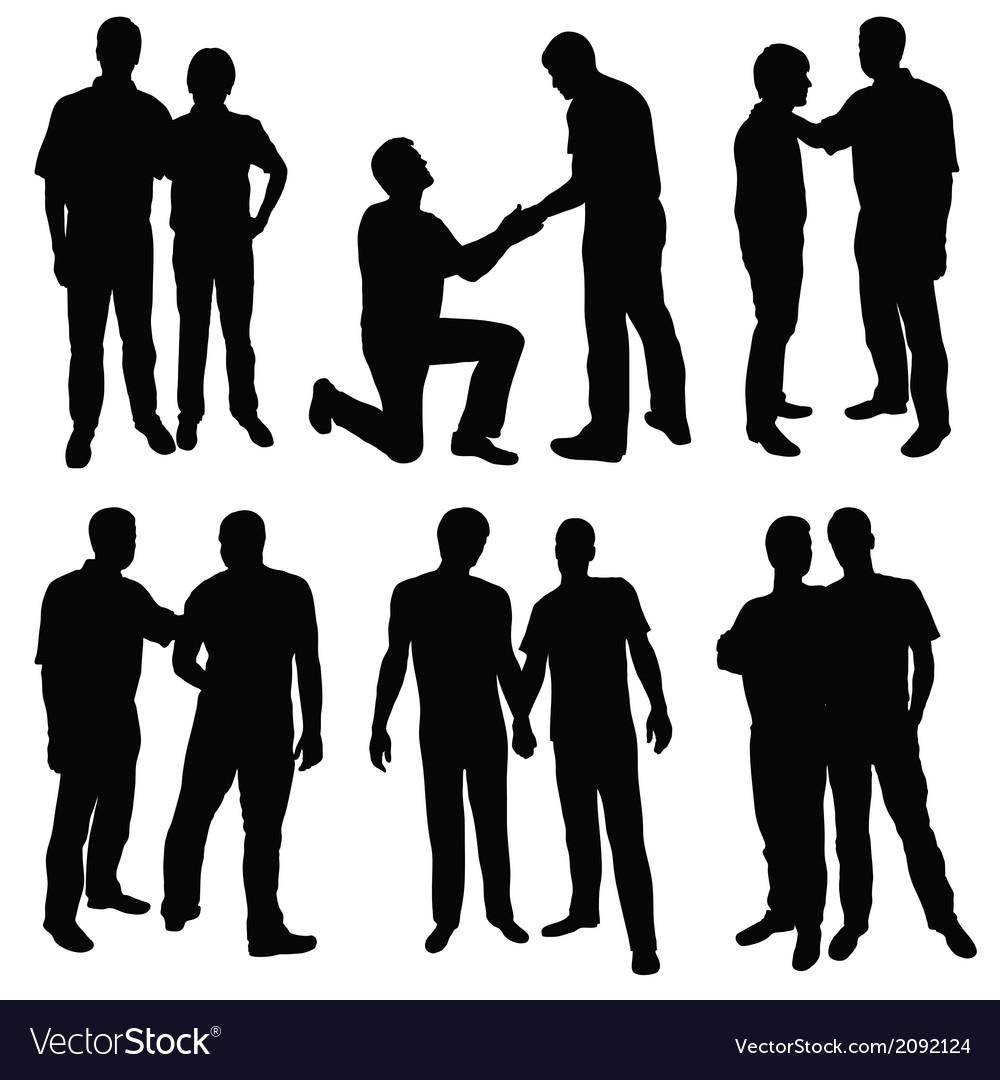 Gay men vector | Price: 1 Credit (USD $1)