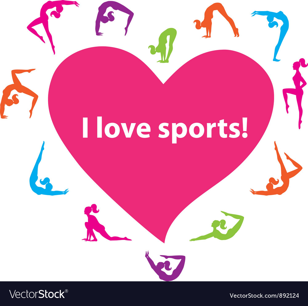 I love sports vector | Price: 1 Credit (USD $1)