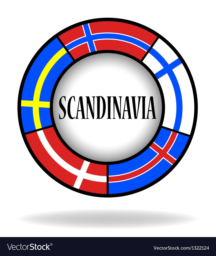 Scandinavian flags in a circle vector | Price: 1 Credit (USD $1)