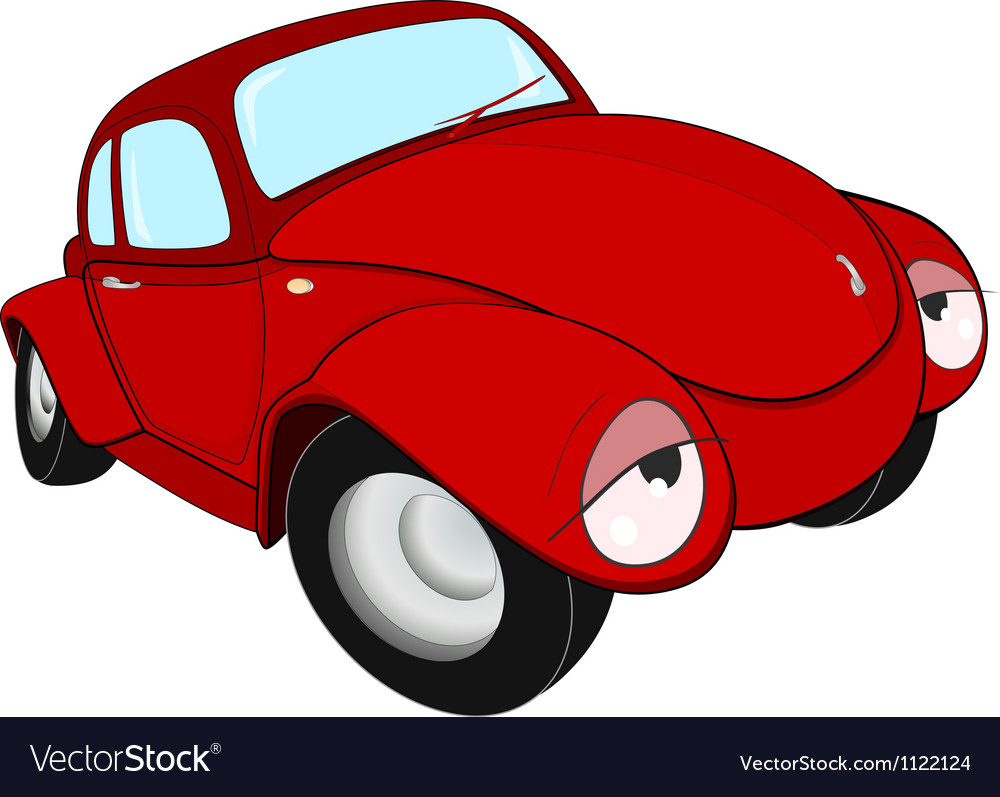 The toy red car vector | Price: 1 Credit (USD $1)