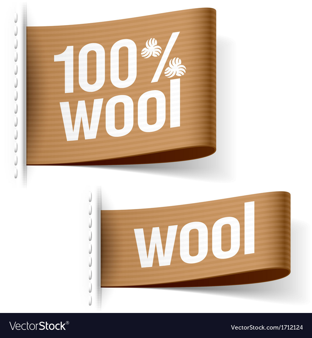 Wool product clothing labels vector | Price: 1 Credit (USD $1)