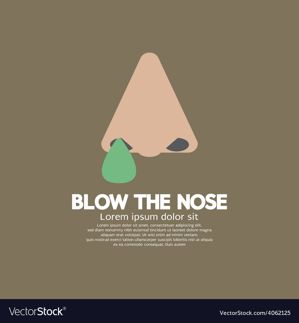 Blow the nose flat design vector | Price: 1 Credit (USD $1)