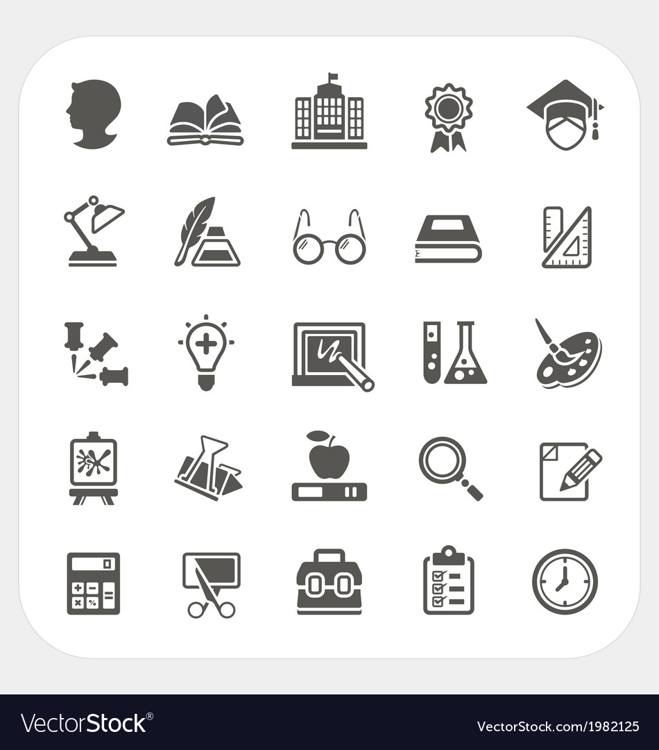 Education icons set vector   Price: 1 Credit (USD $1)