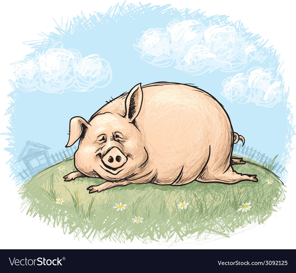 Fun pig vector | Price: 1 Credit (USD $1)
