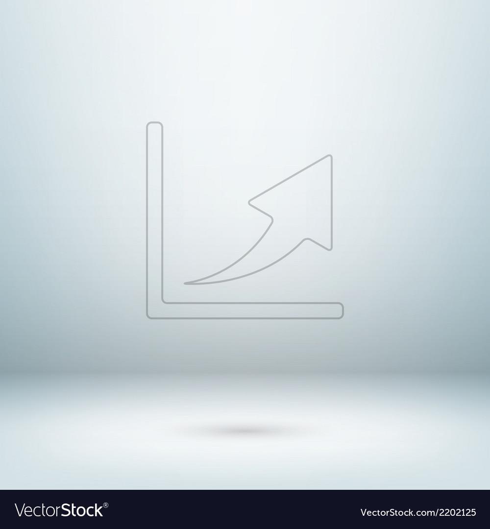 Graph icon in light studio room vector | Price: 1 Credit (USD $1)