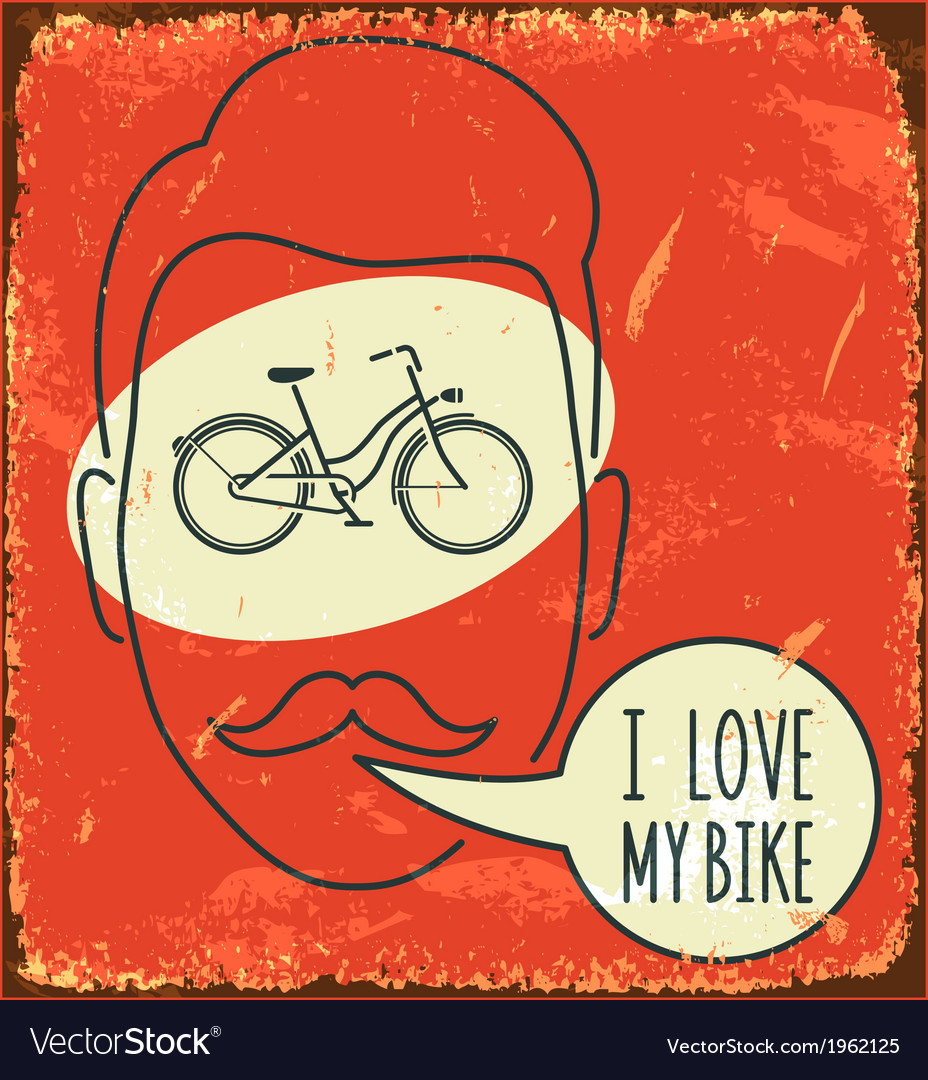 I love my bike vector | Price: 1 Credit (USD $1)