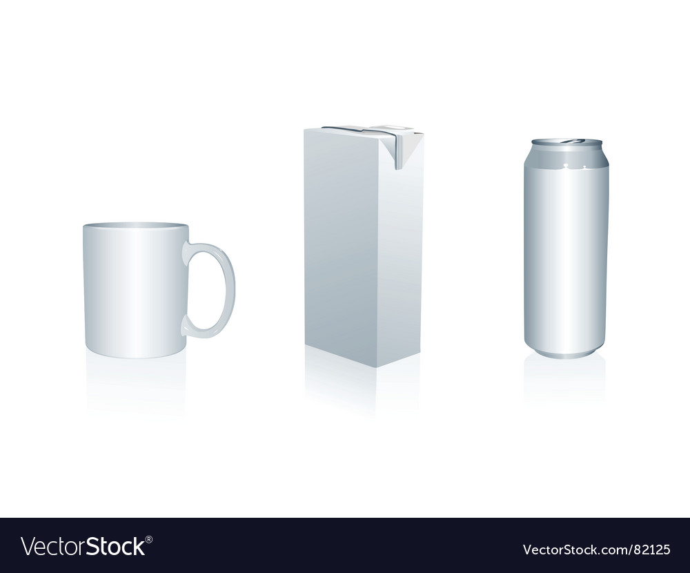 Mug juice packing and can vector | Price: 1 Credit (USD $1)