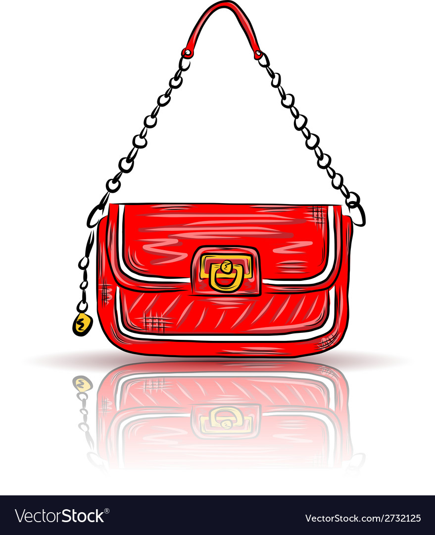 Red glamour bag vector | Price: 1 Credit (USD $1)