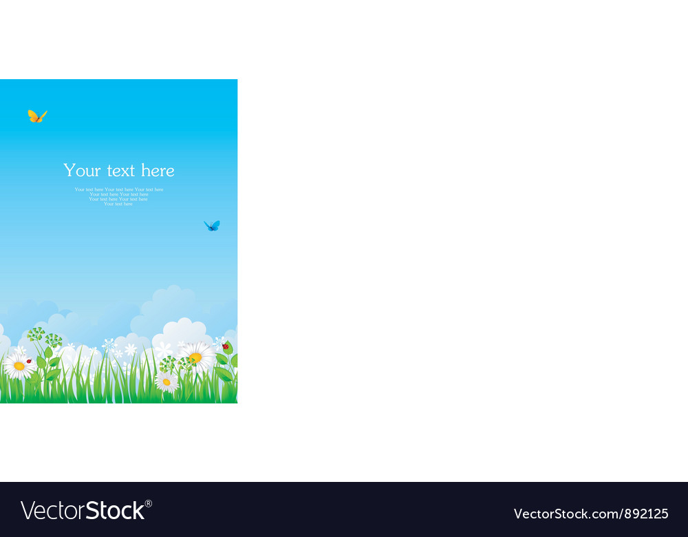 Summer back with grass vector | Price: 1 Credit (USD $1)