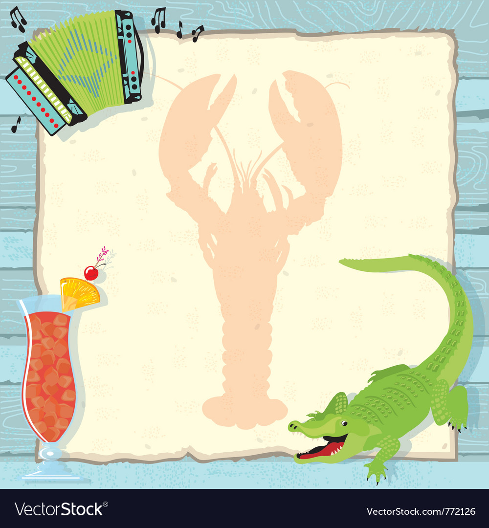 Cajun lobster party invitation vector | Price: 1 Credit (USD $1)