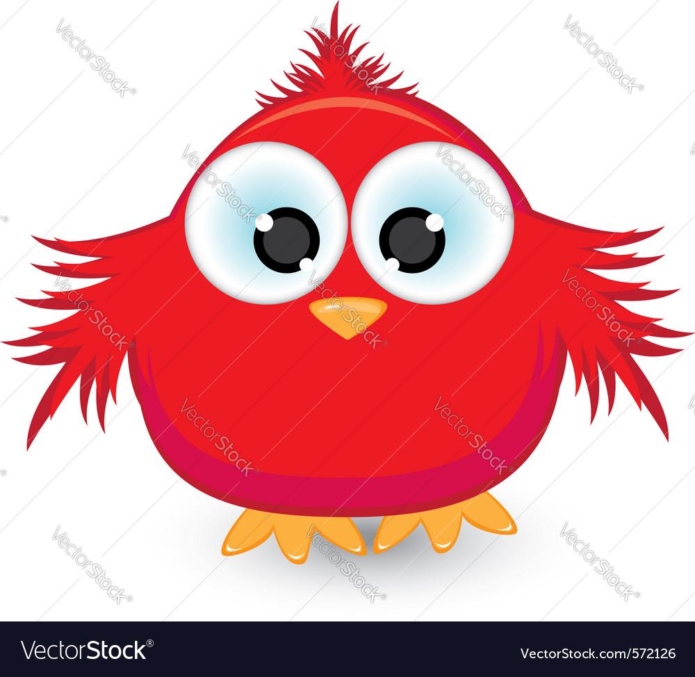 Cartoon red sparrow vector   Price: 1 Credit (USD $1)