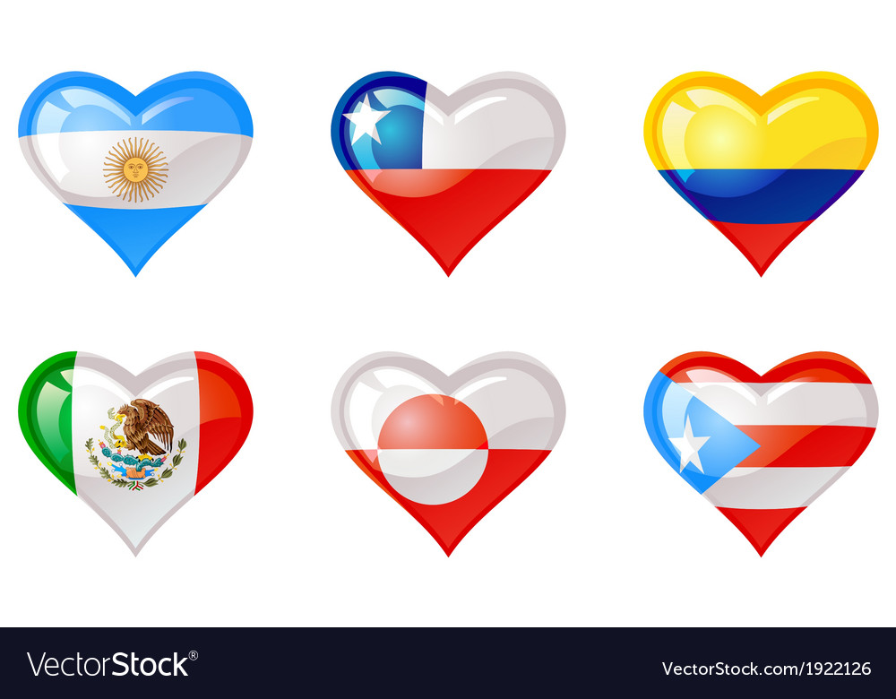 Flags heart vector | Price: 1 Credit (USD $1)