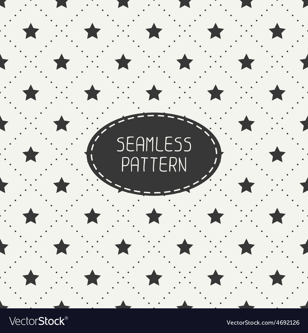 Geometric seamless stars pattern wrapping paper vector | Price: 1 Credit (USD $1)